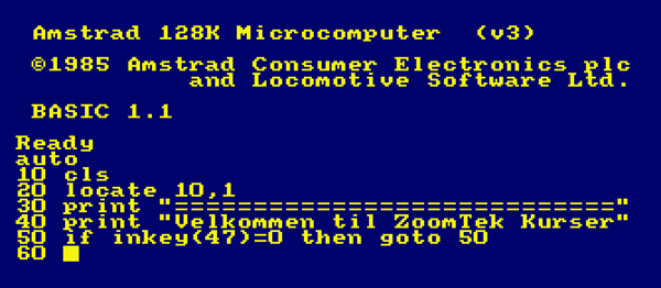 Programmering på Amstrad 6128 startede min interesse for it og computere